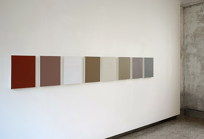 'Monograph' series, installation view