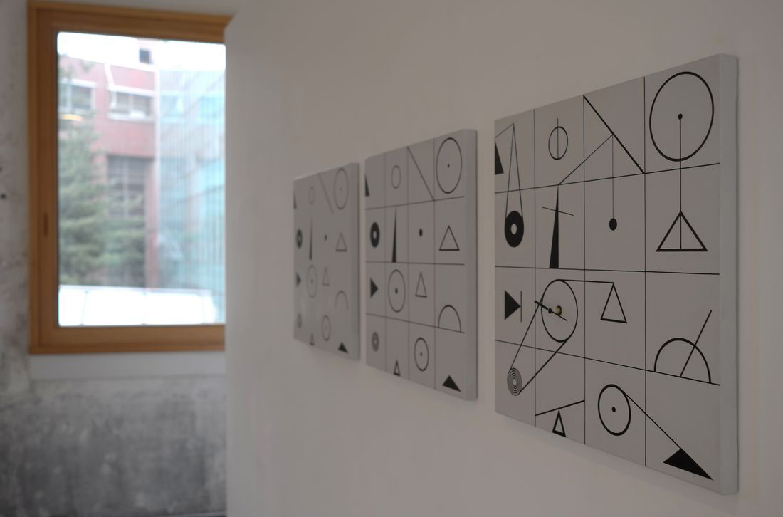 Installation view: Lineation