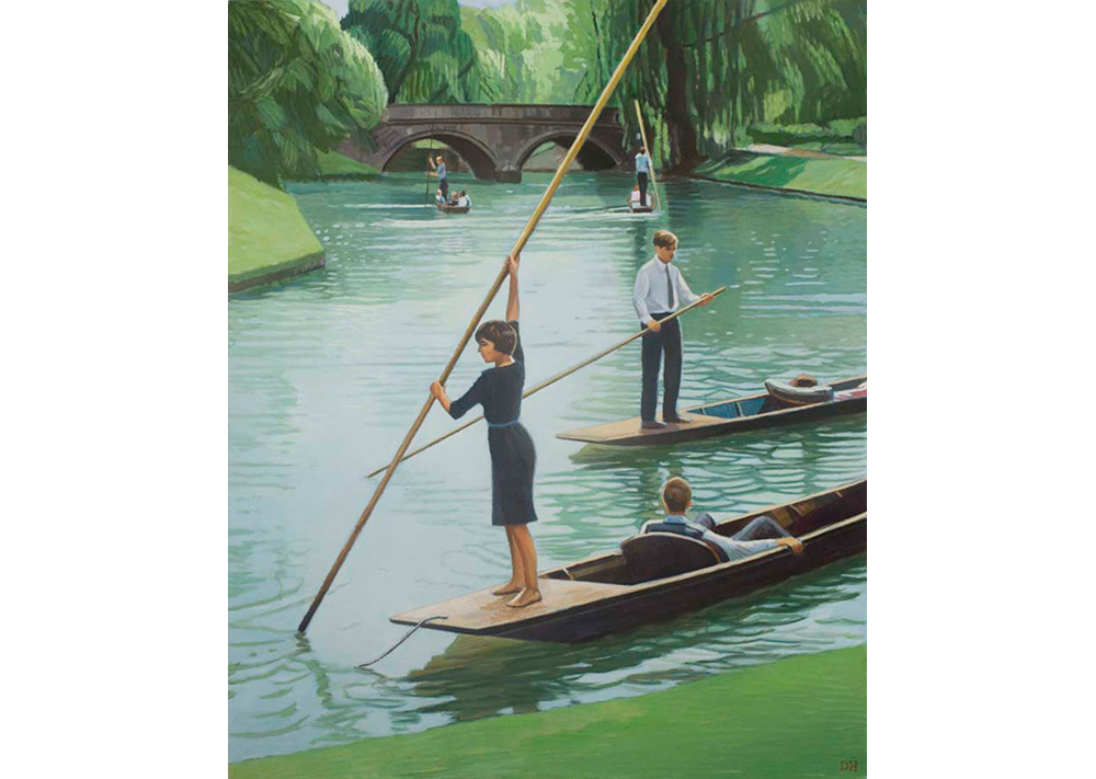Punting on the Cam, 2010, oil on canvas, 111.8x89cm