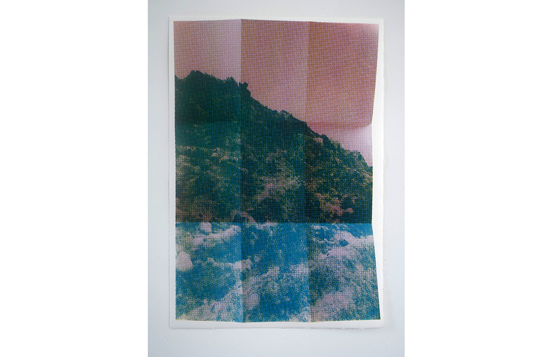 Hollywood Hills - Folded Peaks Green, 2014, hand-pulled screen print, printed on 100% cotton, fine art paper, 55.8x38cm, ed.17/20