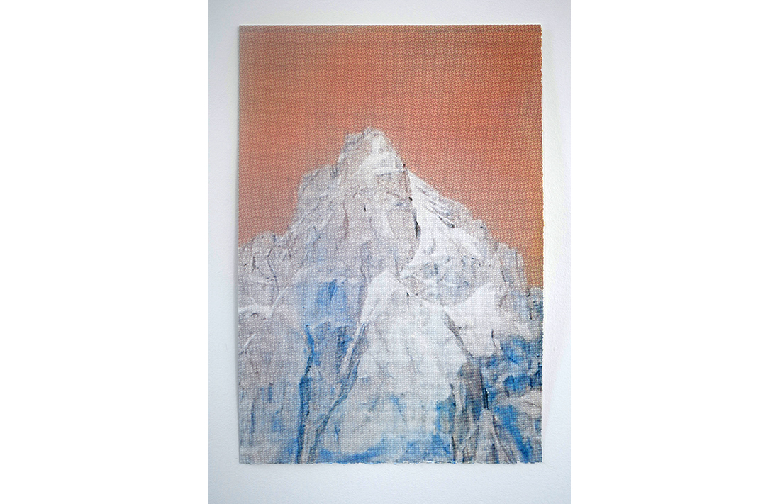 Hollywood Hills - Orange Blue Peaks, 2014, hand-pulled screen print, printed on 100% cotton, fine art paper, 55.8x38cm, ed.23/25