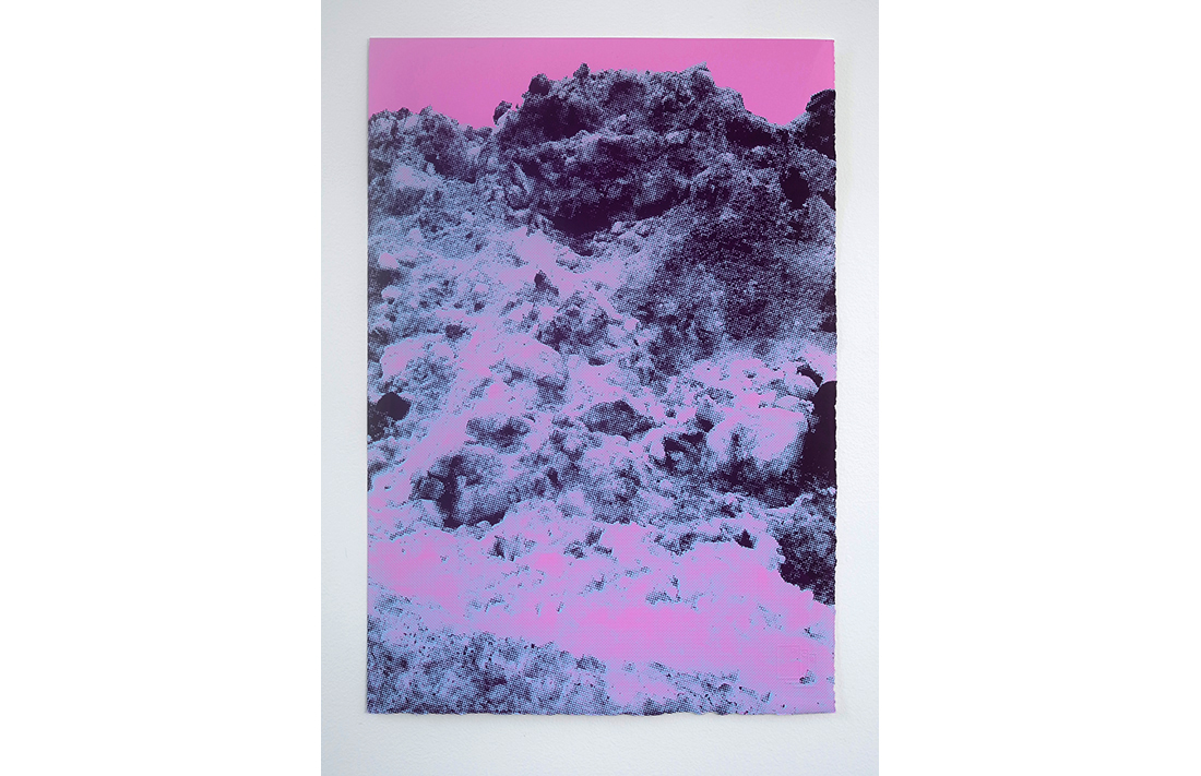 Hollywood Hills - Pink Blue Peaks, 2014, hand-pulled screen print, printed on 100% cotton, fine art paper, 55.8x38cm, ed.4/20
