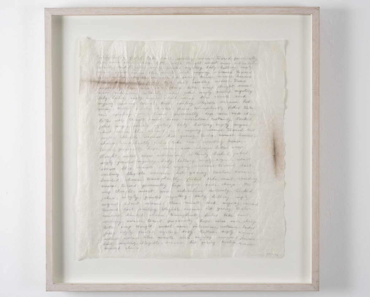 Simon Lewty Notations for a Script for a Phonetic Play (I)  2012 ink, acrylic and graphite 46.5 x 56.5 cm (top right)