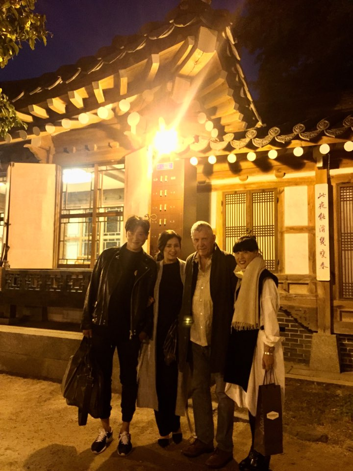 After dinner at Korea House, a korean traditional restaurant.